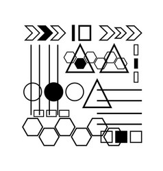 Abstract geometry symbol and element vector