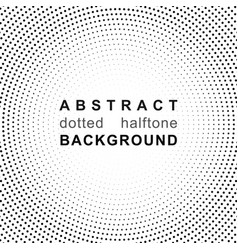 abstract halftone backgrounds dot radial pattern vector image vector image