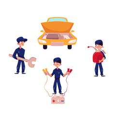 Auto mechanic car service repair and maintenance vector