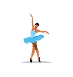 Ballerina sign vector