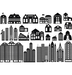 building silhouettes vector image vector image