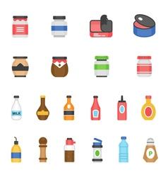 Color icon set - ketchup vector image