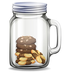 Cookies in the glass jar vector