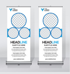 Creative roll up banner design template vector