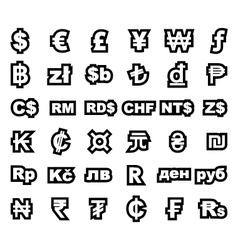 Currency symbol vector