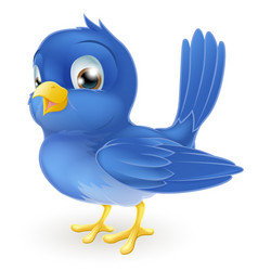 Cute cartoon bluebird vector