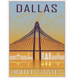 Dallas Vintage Poster vector image vector image