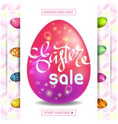 easter egg sale banner background template 22 vector image