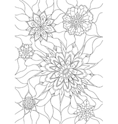 Flowers coloring page vector image vector image