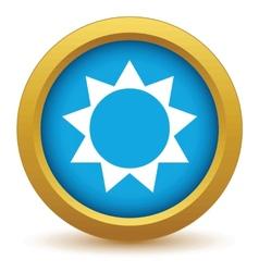 Gold sun icon vector image