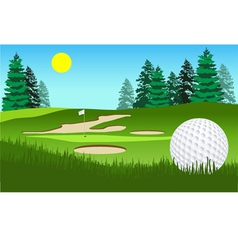 Golf fairway shot vector image