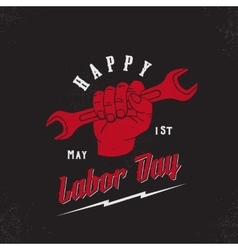 Happy labor day first of may vintage poster vector