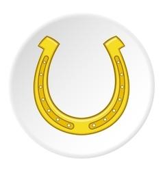 Horseshoe icon flat style vector image