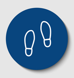 Imprint soles shoes sign white contour vector