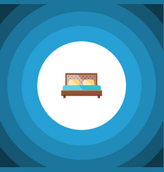 Isolated bedroom flat icon hostel element vector