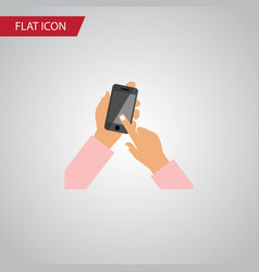 isolated touchscreen flat icon interactive vector image vector image