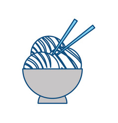 japanese food with chopsticks vector image vector image
