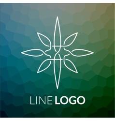 Line art logo icon concept for design vector image vector image