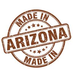 Made in arizona brown grunge round stamp vector