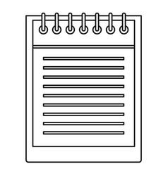 notepad with spiral icon outline style vector image