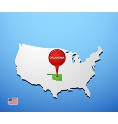 Oklahoma vector image vector image