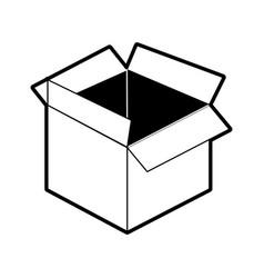 open cardboard box icon imag vector image vector image