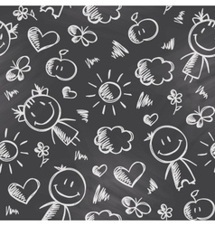 pattern with kids vector image vector image