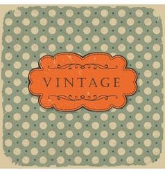 polka vintage background vector image