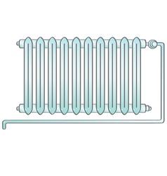 Radiator heating vector