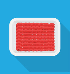 Raw minced meat vector