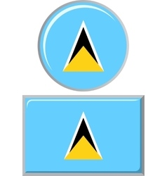 Saint lucia round and square icon flag vector