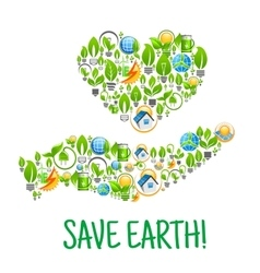 Save Earth Eco environment creative vector image vector image