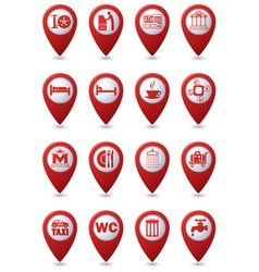 Set of 16 Services and Entertainment icons vector image vector image