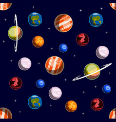 space elements seamless pattern vector image vector image