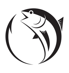Symbol tuna and hook vector