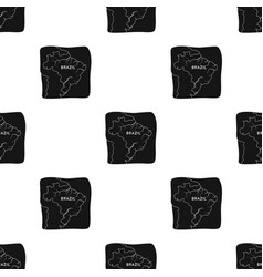 territory of brazil icon in black style isolated vector image