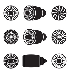 Turbines icons vector image