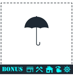 Umbrella icon flat vector image vector image