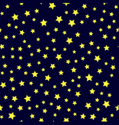 yellow star seamless pattern vector image vector image