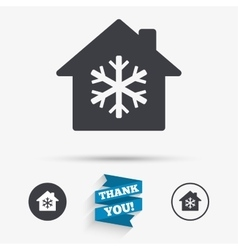 Air conditioning indoors icon snowflake sign vector