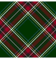Green red diagonal check tartan textile seamless vector