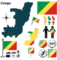 Congo map vector