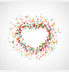 Bright colorful catching heart shape background - vector