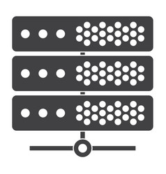 Big data or server icon vector
