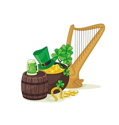 Saint patricks day scene vector