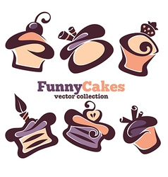 Funny cakes vector