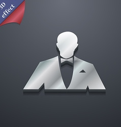 Silhouette of man in business suit icon symbol 3d vector