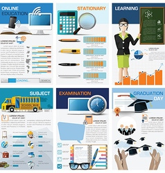 Education and learning chart diagram infographic vector