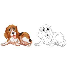 Animal outline for little dog vector