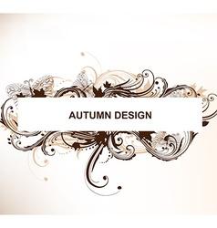 Autumn frame design vector
